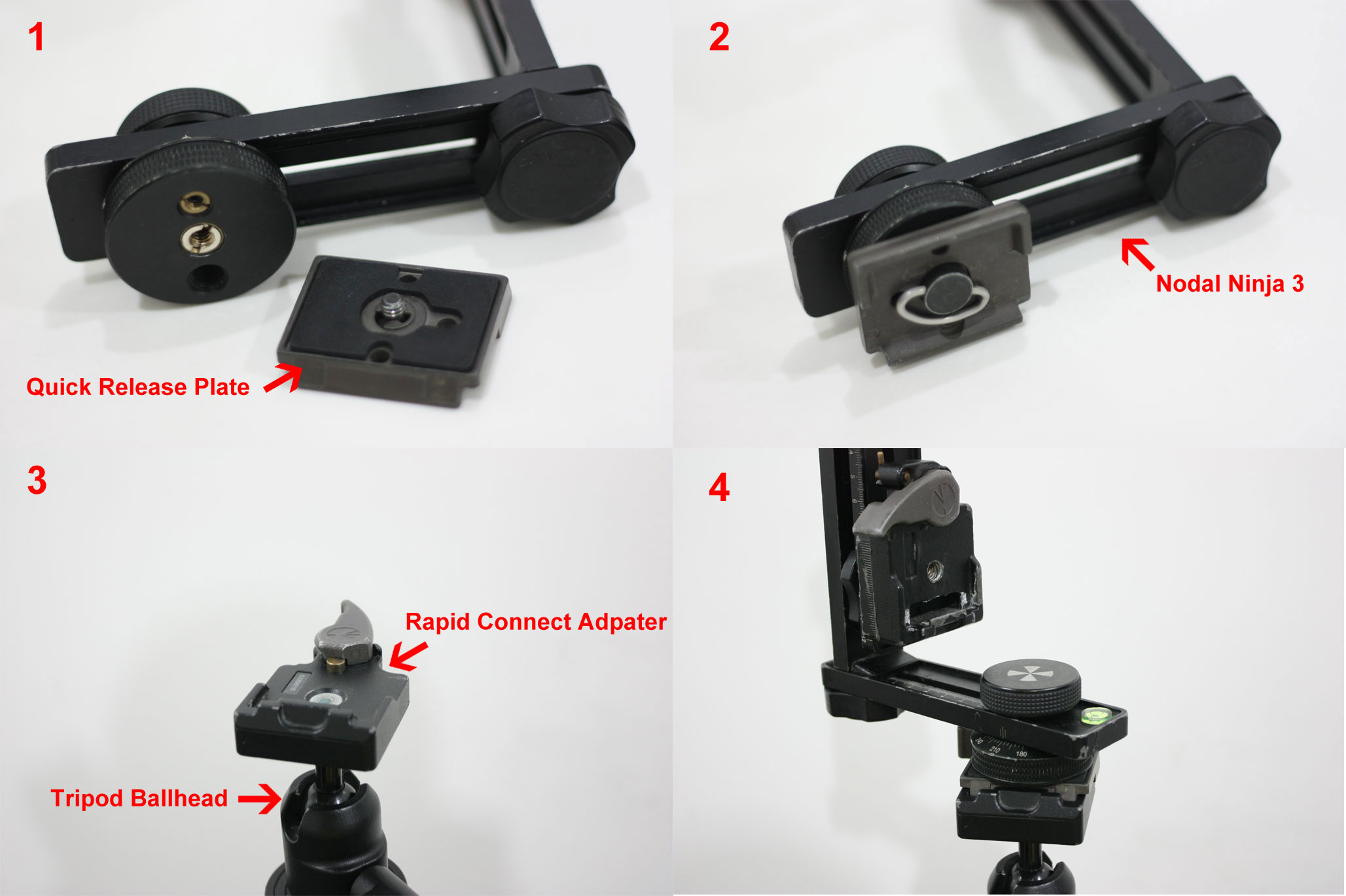 Manfrotto Rapid Connect Adapter and Nodal Ninja 3