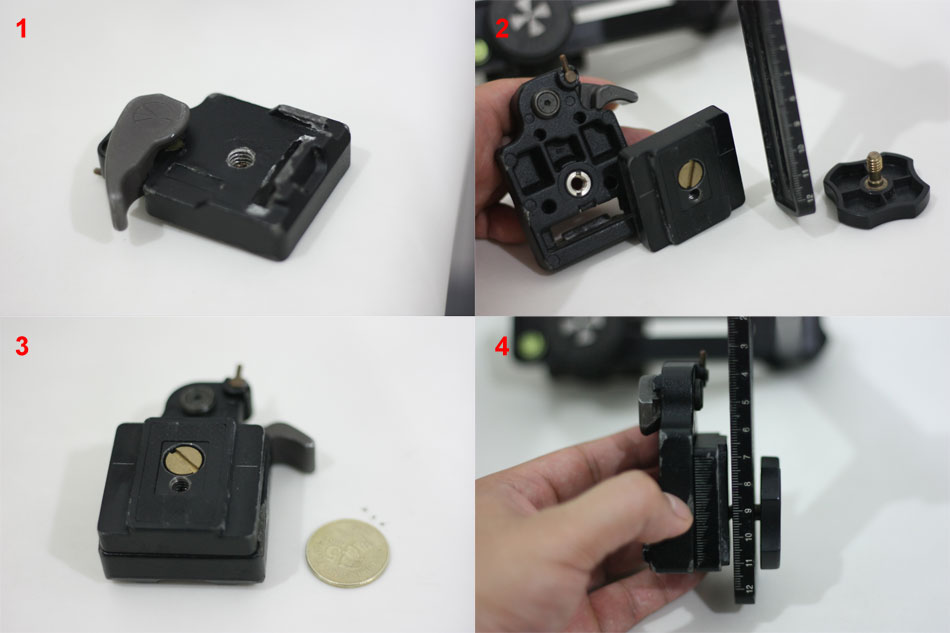 Connecting Manfrotto 323 RC2 Rapid Connect Adapter to Nodal Ninja 3